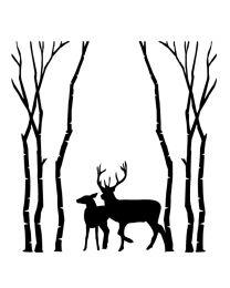Deer in the Trees