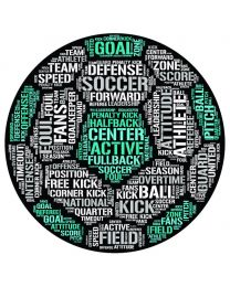 Soccer Ball Word Cloud