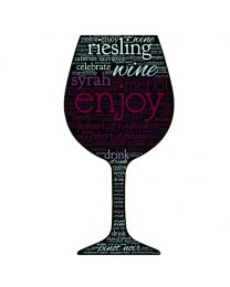 Wine Glass Word Cloud