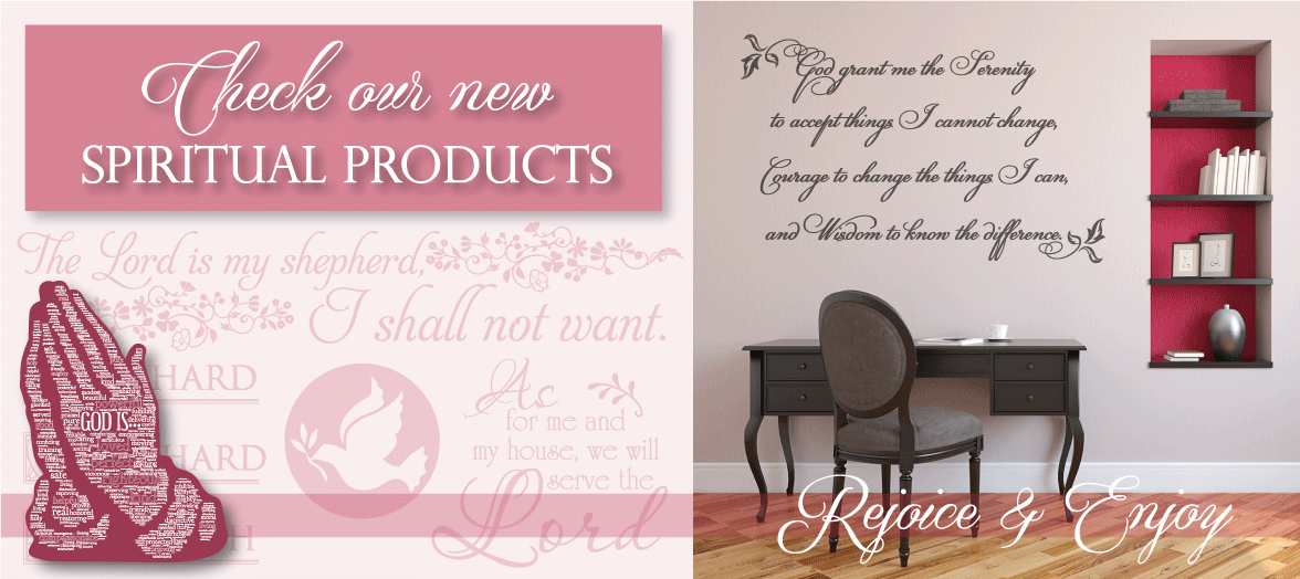 Inspirational Quotes Wall Art, Custom Vinyl Lettering for Walls, More